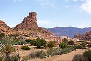 Tafraoute Napoleons Hat landscape, Anti Atlas Mountains, Souss Massa Draa region of Southern Morocco