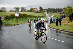 Lucy Garner (GBR) battles through the rain at ASDA Tour de Yorkshire Women's Race 2019 - Stage 2, a 132 km road race from Bridlington to Scarborough, United Kingdom on May 4, 2019. Photo by Sean Robinson/velofocus.com