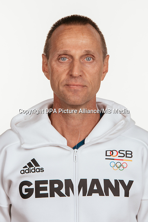 Michael Kuhn poses at a photocall during the preparations for the Olympic Games in Rio at the Emmich Cambrai Barracks in Hanover, Germany, taken on 14/07/16 | usage worldwide