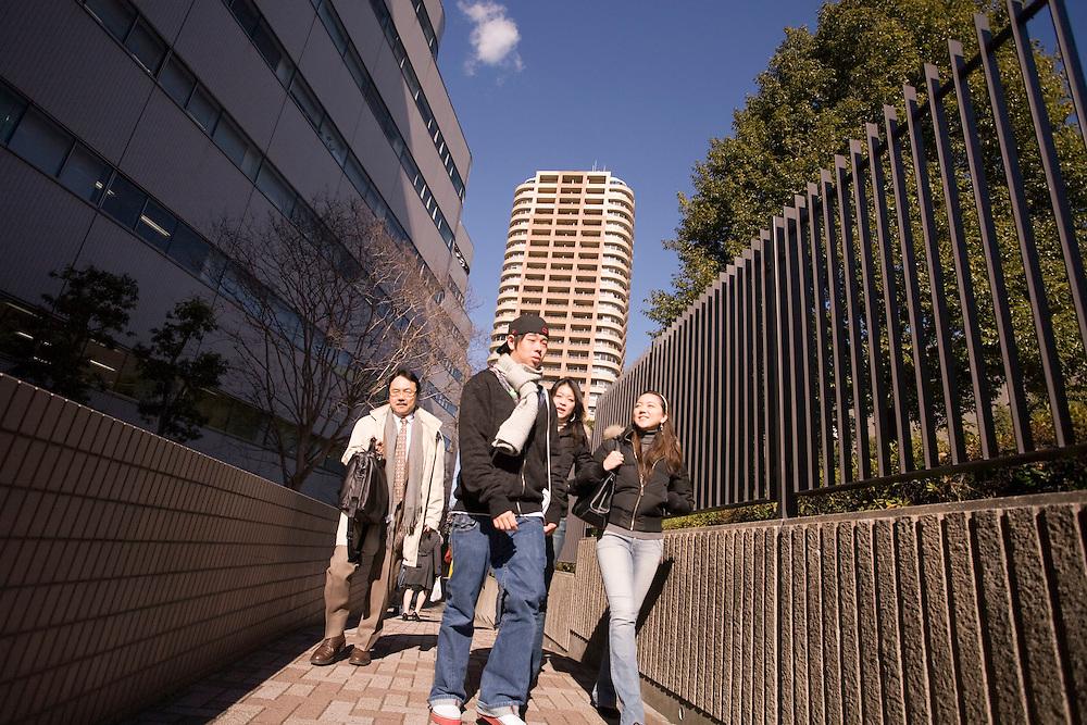 Waseda  University,  Waseda  University American students walk between classes on Nishi  Waseda  campus