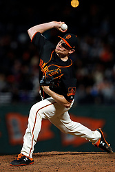 SAN FRANCISCO, CA - SEPTEMBER 15: Mark Melancon #41 of the San Francisco Giants pitches against the Colorado Rockies during the eighth inning at AT&T Park on September 15, 2018 in San Francisco, California. The San Francisco Giants defeated the Colorado Rockies 3-0. (Photo by Jason O. Watson/Getty Images) *** Local Caption *** Mark Melancon
