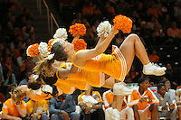 Jan 13, 2015; Knoxville, TN, USA; The Tennessee Volunteers cheerleaders during the game against the Arkansas Razorbacks at Thompson-Boling Arena. Mandatory Credit: Randy Sartin-USA TODAY Sports