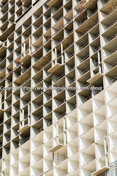 high office apartment tower under construction  on Al Reem Island new CBD in Abu Dhabi United Arab emirates.