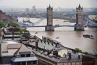 Tower Bridge & River Thames (Rainy Day), London