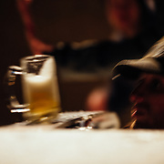 Joseph Paine sending beers off of a ski during Hostel X team practice.