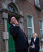 "Editorial Use Only. Bloomsday June  16th 2008, Dublin. Actors from Balloonatics theatre company perform the ""Calypso"" chapter from  James Joyce novel Ulysses around Eccles St. and Dorset Street."