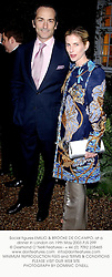Social figures EMILIO & BROOKE DE OCAMPO, at a dinner in London on 19th May 2003.PJS 299