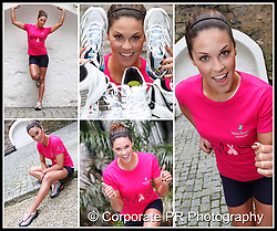 Glenda Gilson is pictured encouraging women across Ireland to join her in running this year's Women's Mini Marathon to raise money for the Marie Keating Foundation.Pic Andres Poveda CPR.  Marks & Spencer are supporting this appeal by providing Marie Keating Foundation pink t-shirts for all women who choose to run in aid of the charity...The Women's Mini Marathon takes place on Monday, 7 June 2010..