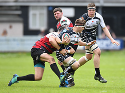 Pontypridd's   Morgan Sieniawski<br /> Cross Keys v Pontypridd RFC<br /> <br /> Photographer Mike Jones / Replay Images<br /> Pandy Park, Cross Keys.<br /> Wales - 12th May 2018.<br /> <br /> Cross Keys v Pontypridd RFC<br /> Principality Premiership<br /> <br /> World Copyright © Replay Images . All rights reserved. info@replayimages.co.uk - http://replayimages.co.uk
