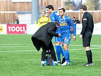 Fotball ,  OBOS-Ligaen<br /> 07.04.19<br /> Nammo Stadion<br /> Raufoss v Sandefjord  0-2<br /> Foto :  Dagfinn Limoseth , Digitalsport<br /> Ruben Herraiz Alcaraz , Sandefjord