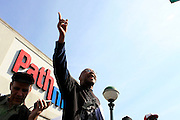 Sean Bell protest demonstration against the Not Guilty Verdict of three NYPD Officers,  held in harlem along East 125th Street and Third Ave. Protestors were arrested by NYPD at they block traffic to the FDR and Triboro Bridge at the height of the rush hour on May 7, 2008
