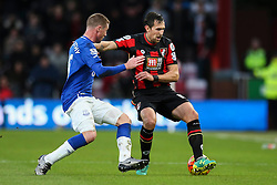 Charlie Daniels of Bournemouth holds back James McCarthy of Everton - Mandatory by-line: Jason Brown/JMP - Mobile 07966 386802 28/11/2015 - SPORT - FOOTBALL - Bournemouth, Vitality Stadium - AFC Bournemouth v Everton - Barclays Premier League