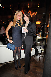 Left to right, Myla's Creative Director CYNTHIA GABAY and Myla CEO DIANE METCALFE at a party to celebrate the 10th anniversary of the Myla lingerie brand held at Almada, 17 Berkeley Street, London on 17th November 2010.