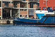 Tug Vessel fenja, at port in the harbor in Aarhus Denmark,january 2017