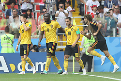 June 23, 2018 - Moscou, Rússia - MOSCOU, MO - 23.06.2018: BÉLGICA Y TÚNEZ - Hazard celebrates his goal, the Belgian quarter during the match between Belgium and Tunisia valid for the 2018 World Cup held at the Otkrytie Arena (Spartak) in Moscow, Russia. (Credit Image: © Ricardo Moreira/Fotoarena via ZUMA Press)