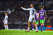 Kemar Roofe of Leeds United (7) signals a thumbs up to a team mate during the EFL Sky Bet Championship match between Leeds United and Bristol City at Elland Road, Leeds, England on 24 November 2018.