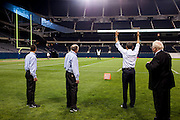 20.MAY.2012. CHICAGO<br /> <br /> PRESIDENT BARACK OBAMA SIGNALS A TOUCHDOWN WHILE PLAYING FOOTBALL AT SOLDIER FIELD FOLLOWING THE NATO WORKING DINNER IN CHICAGO, ILL., MAY 20, 2012.  <br /> <br /> BYLINE: EDBIMAGEARCHIVE.CO.UK<br /> <br /> *THIS IMAGE IS STRICTLY FOR UK NEWSPAPERS AND MAGAZINES ONLY*<br /> *FOR WORLD WIDE SALES AND WEB USE PLEASE CONTACT EDBIMAGEARCHIVE - 0208 954 5968*