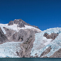 The Northwestern Glacier, an outlet of the Harding Icefield, in the Kenai Fjords National Park, Alaska