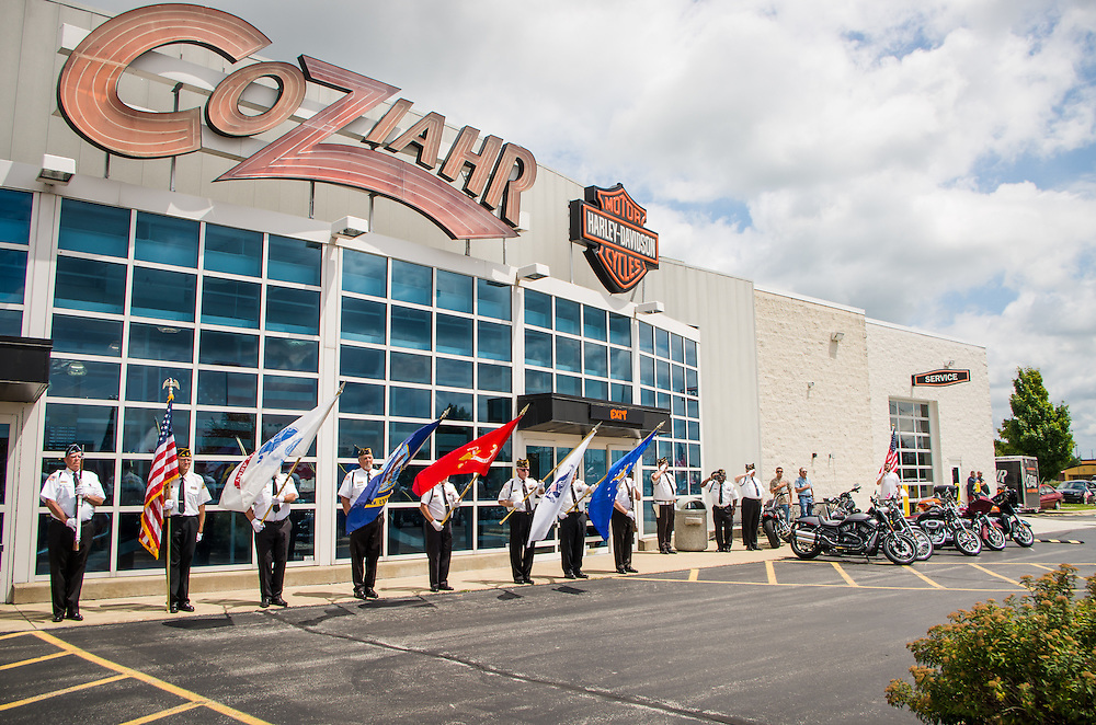 Warrior Run at Coziahr Harley Davidson in Forsyth, Illinois