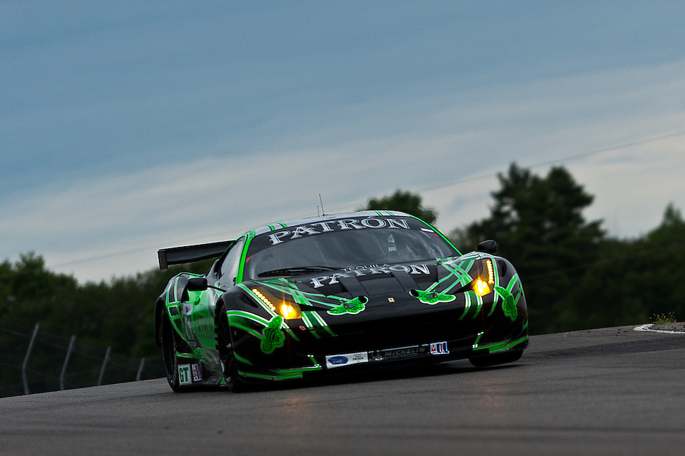 22 July, 2011; Bowmanville, Ontario, Canada;  Mobil 1 Grand Prix of Mosport, ALMS Rd4, Mosport International Raceway; Extreme Speed Motorsports Tequila Patron Ferrari F458 Italia lifts a wheel.   © 2011 Scott LePage   Mandatory Credit: Scott LePage-MotorRacingPhoto