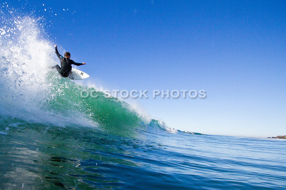 Surfing Waves at Newport Beach