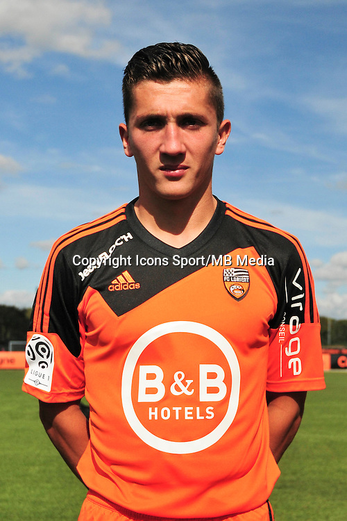 Mathias Autret - 25.09.2014 - Photo officielle Lorient - Ligue 1 2014/2015<br /> Photo : Philippe Le Brech / Icon Sport