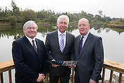 REPRO FREE: 13/10/2014<br /> Mr. John Horgan, Chairman, Bord na M&oacute;na is pictured with Minister for Communications, Energy and Natural Resources, Alex White T.D. and Gerry Ryan, Company Secretary, Bord na M&oacute;na at the official opening Bord na M&oacute;na&rsquo;s new &euro;1.5 million euro development, which sees a new visitor centre and facilities&rsquo; in Lough Boora Discovery Park, Co. Offaly. Picture Andres Poveda<br /> <br /> For further info contact:<br /> Daith&iacute; de R&oacute;iste<br /> Press Officer<br /> Bord na M&oacute;na<br /> 087 612 3999  <br /> daithi.deroiste@bnm.ie