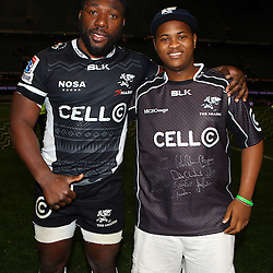 DURBAN, SOUTH AFRICA, 9,JULY, 2016  Tendai Beast Mtawarira of the Cell C Sharks during The Cell C Sharks vs Toyota Cheetahs  Super Rugby Match at Growthpoint Kings Park in Durban, South Africa. (Photo by Steve Haag)<br /> <br /> images for social media must have consent from Steve Haag