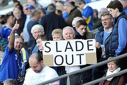 Cardiff City fan sentiment before the Bolton Wanderers game at Cardiff City Stadium - Photo mandatory by-line: Paul Knight/JMP - Mobile: 07966 386802 - 06/04/2015 - SPORT - Football - Cardiff - Cardiff City Stadium - Cardiff City v Bolton Wanderers - Sky Bet Championship