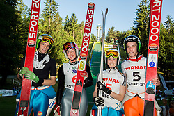 Matjaz Pungertar, Nina Lussi , Ursa Bogataj and Anze Semenic during Ski jumping Summer cup - 45. Revija skokov Mostec on June 4, 2016 in Mostec hill, Ljubljana, Slovenia.Photo by Vid Ponikvar / Sportida