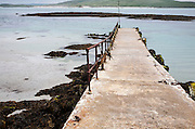 Slipway leading into the sea at Eoligarry, Barra, Outer Hebrides, Scotland, UK