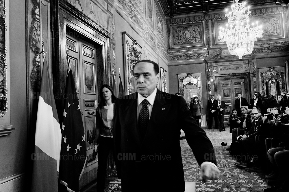 Silvio Berlusconi after a meeting with Italian President of Senate on the second day of consultations for the formation of the new government on April 19, 2018 in Rome, Italy. Christian Mantuano  / OneShot