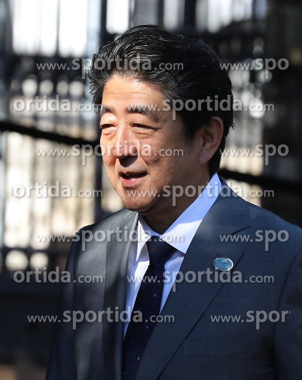 27.05.2017, Taormina, ITA, 43. G7 Gipfel in Taormina, im Bild Japans Premierminister Shinzo Abe // Japan's Prime Minister Shinzo Abe during the 43rd G7 summit in Taormina, Italy on 2017/05/27. EXPA Pictures &copy; 2017, PhotoCredit: EXPA/ SM<br /> <br /> *****ATTENTION - OUT of GER*****