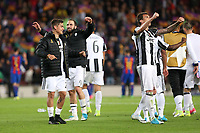 19.04.2017 - Barcellona  -  Quarti di finale  Champions League, Barcellona-Juventus , Nella foto:  l'esultanza dei giocatori della Juventus