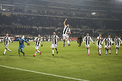 December 15, 2018 - Turin, Piedmont, Italy - Juventus players celebrate the victory after the Serie A football match between Torino FC and Juventus FC at Olympic Grande Torino Stadium on December 15, 2018 in Turin, Italy. Torino lost 0-1 against Juventus. (Credit Image: © Massimiliano Ferraro/NurPhoto via ZUMA Press)