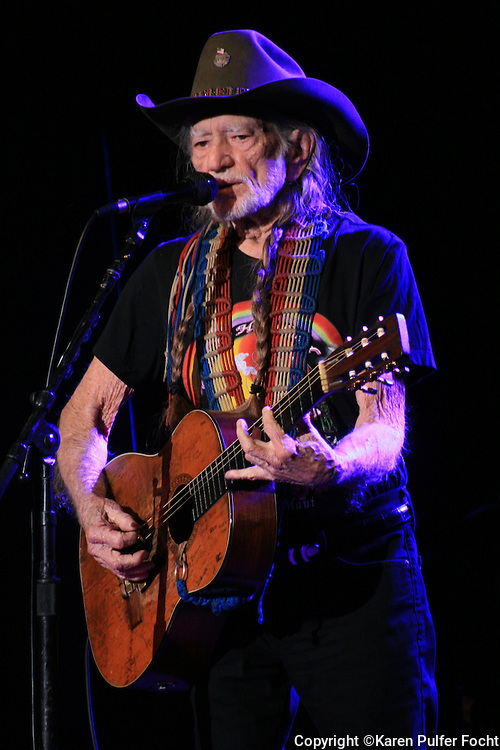 Willie Nelson,83,  performs in Tunica, Mississippi at the Horseshoe Casino on Jan. 6th 2017. (Photo by Karen Pulfer Focht © All rights Reserved)
