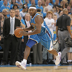 01 November 2008:  New Orleans Hornets guard Devin Brown (23) drives down court during a 104-92 win by the New Orleans Hornets over the Cleveland Cavaliers at the New Orleans Arena in New Orleans, LA..