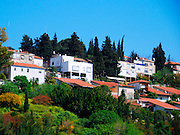 Israel, Lower Galilee, Yokneam. he city of Yokneam is at the base of the Carmel Mountains and overlooks the Jezreel Valley