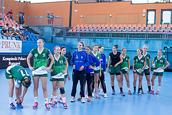Players of RK Zelene Doline Zalec after handball match between RK Krim Mercator vs ZRK Zelene doline Zalec of Super Cup 2015, on August 29, 2015 in SRC Marina, Portoroz / Portorose, Slovenia. Photo by Urban Urbanc / Sportida