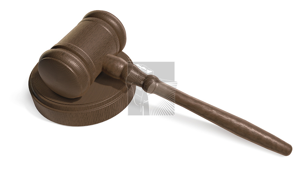 Judges Gavel on white background