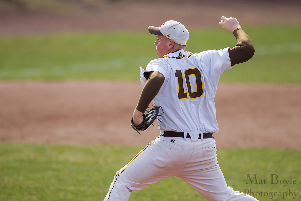 Rowan University Sophomore Designated Hitter/Right Handed Pitcher Ryan Easterday (10) - Richard Stockton College Baseball at Rowan University at Rowan University in Glassboro, NJ on Thursday April 4, 2013. (photo / Mat Boyle)