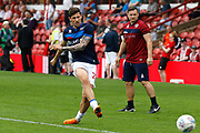 QPR midfielder Pawel Wszolek (22) warms up before kick off during the EFL Sky Bet Championship match between Brentford and Queens Park Rangers at Griffin Park, London, England on 21 April 2018. Picture by Andy Walter.
