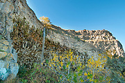 Autumn scenic of waterfall along the Snake River Canyon in Twin Falls, Idaho.