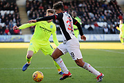 St Mirren midfielder Ethan Erhahon (39) attacks with the ball during the Ladbrokes Scottish Premiership match between St Mirren and Hibernian at the Paisley 2021 Stadium, St Mirren, Scotland on 27 January 2019.