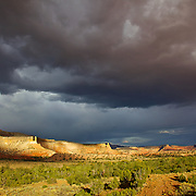 Stormy sky after a desert rain in Georgia O'Keeffe country near Ghost Ranch, Abiquiu, New Mexico
