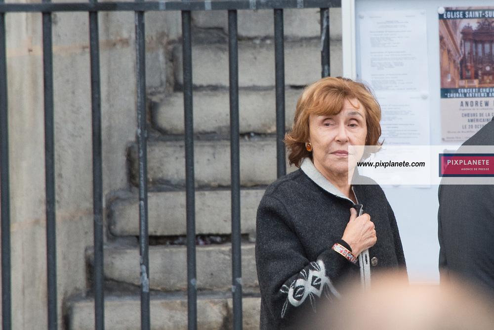 Edith Cresson Obsèques de Jacques Chirac Lundi 30 Septembre 2019 église Saint Sulpice Paris