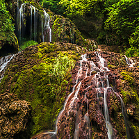 Amazing mossy rocks of Krushuna Waterfall