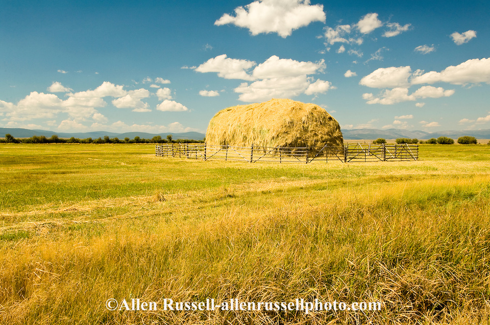 Haystack in Big Hole Valley, Land of 10,000 Haystacks, Southwestern Montana