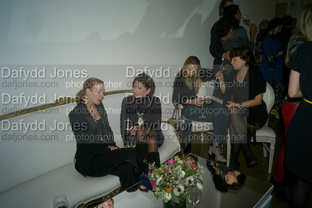 DEE STIRLING; GILLIAN CROTTY; TATIANA STEBANOVA; LILIYA RULNOLDS - THE LAUNCH OF THE KRUG HAPPINESS EXHIBITION AT THE ROYAL ACADEMY, London. 12 December 2011.