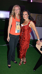 Left to right, ALANNAH WESTON and NANCY DELL'OLIO at a party to launch Umbro Football Fever at Selfridges, Oxford Street, London on 8th June 2006.<br />